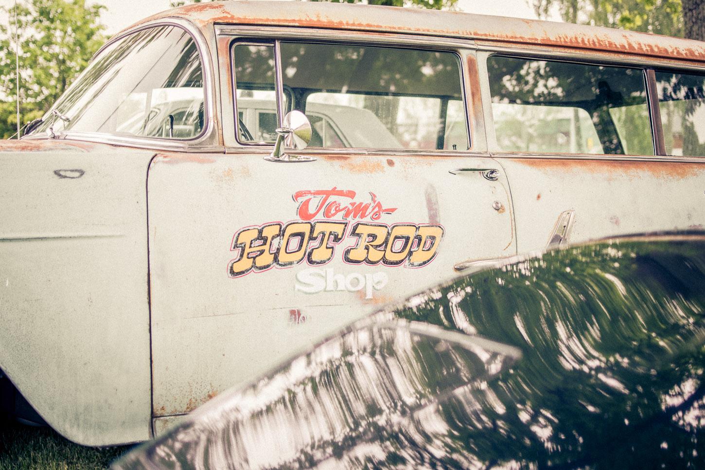 Toms Hot Rod Shop. Veteranbil, trosa