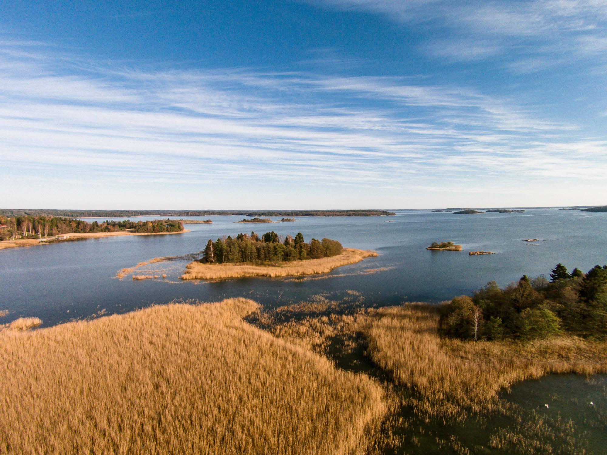 Flygfoto, Trosa Skärgård