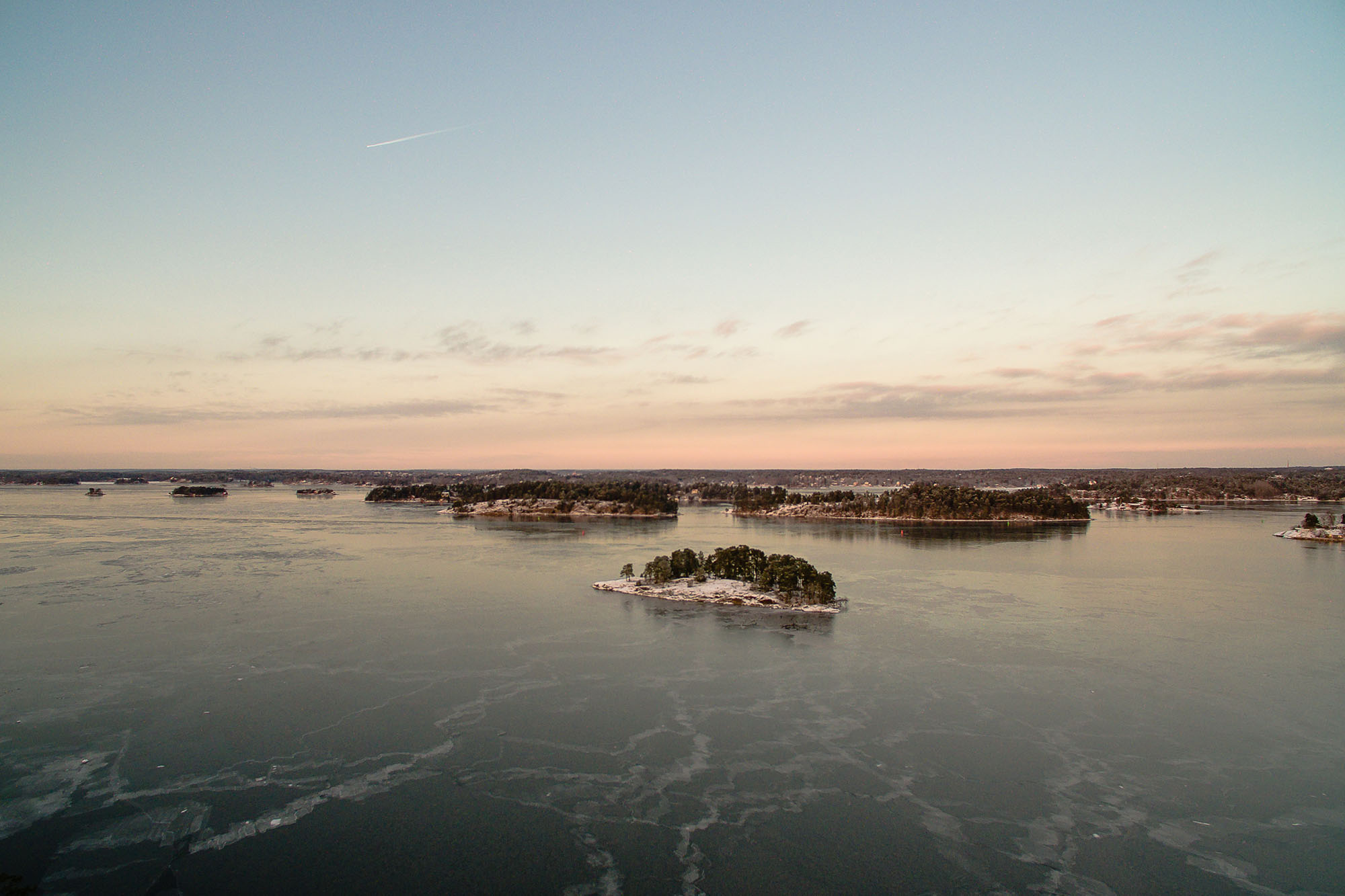 Flygfoto, Stockholms skärgård